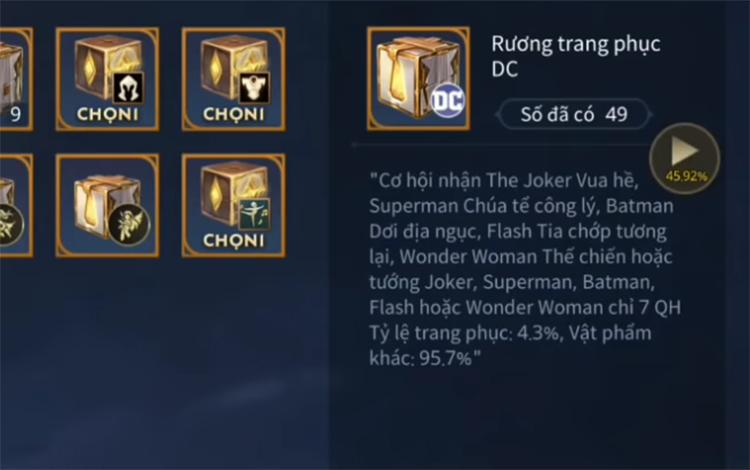 Mở 49 rương DC game thủ nhận được cái kết bất ngờ...