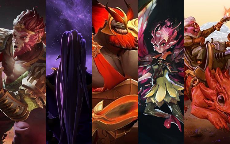Siêu đội hình kết hợp bởi chỉ những Hero mới của Dota 2