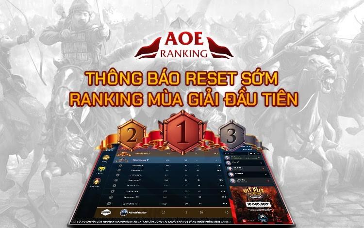 GTV Plus thông báo kết thúc sớm AoE Ranking mùa giải đầu tiên