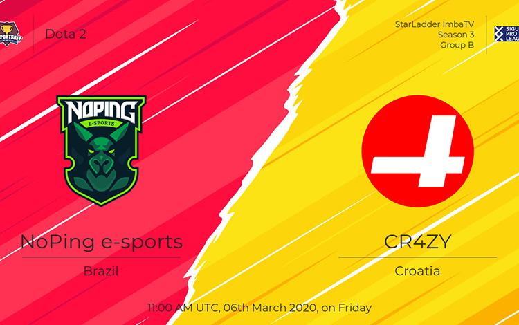 """Bảng B Kiev Minor: noPing eSports vs CR4ZY - Nam Mỹ liệu có thoát kiếp """"lót đường""""?"""