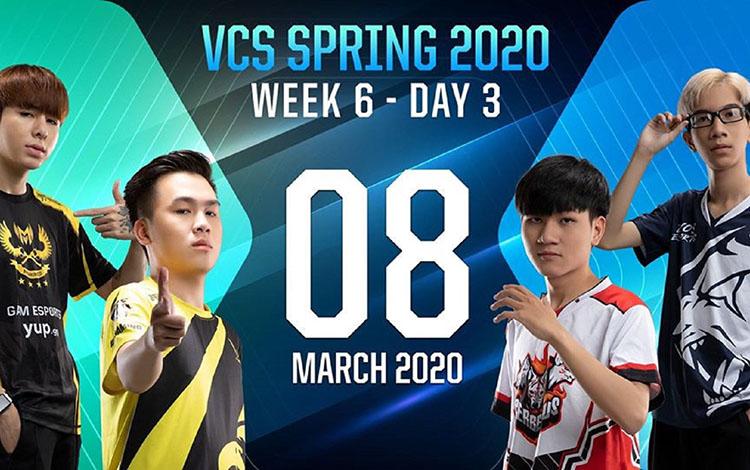 GAM đại thắng, CES bất ngờ bại trận trong ngày thi đấu cuối cùng của tuần 6 VCS Mùa Xuân 2020