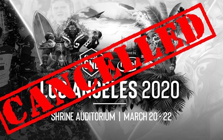 Nóng: ESL One Los Angeles sẽ bị hủy bỏ bởi dịch COVID-19