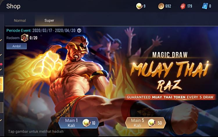 Dùng vàng mua giấy vẽ bùa game thủ có cơ hội nhận Free Raz Muay Thái