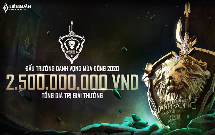 Đấu trường danh vọng Mùa Đông 2020 chuẩn bị trở lại, tổng giải thưởng tăng thêm 300 triệu