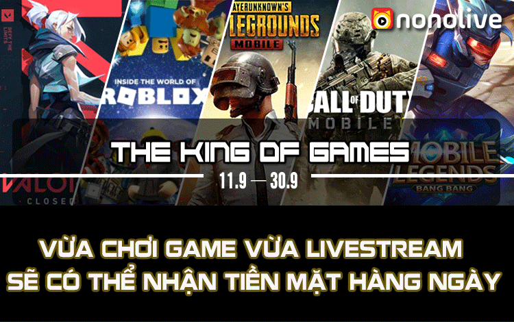 Sự kiện Nonolive: The King Of New Game