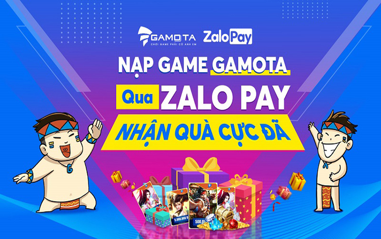 Nạp game GAMOTA nhận quà khủng cực đã cùng ZaloPay