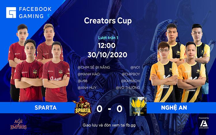 Facebook Gaming Creators Cup: Tường thuật trực tiếp ngày thi đấu thứ 1