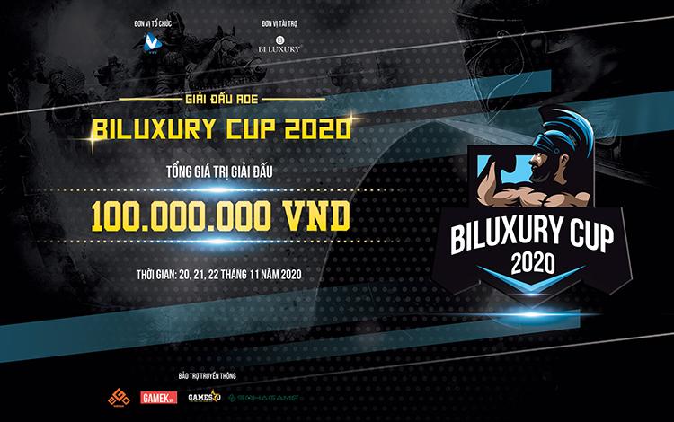 """Thông báo chính thức về giải đấu AoE """"Biluxury Cup 2020"""" - Tứ Hùng Phân Tranh ai xứng danh vô địch!"""