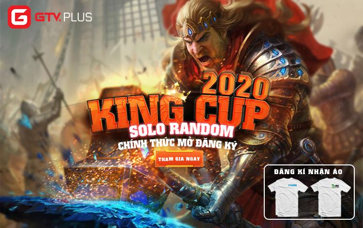 Giải đấu GTV Plus King Cup 2020 - Thể loại Solo Random chính thức mở đăng ký