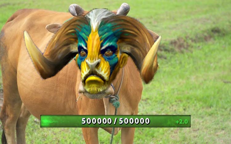 Trước khi sáng lập vũ trụ Dota 2, Elder Titan từng là một con bò có 500.000 HP?