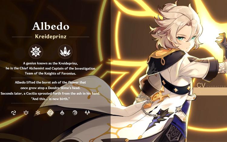 Genshin Impact: Chi tiết bộ kĩ năng của nhân vật Albedo