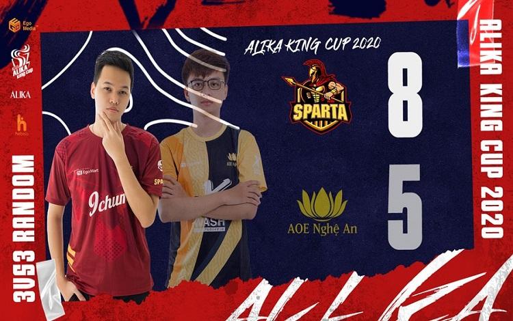 AoE ALIKA KING CUP 2020 Ngày thi đấu thứ 2: Sparta bứt tốp, diễn biến giải đấu lại trở nên khó lường