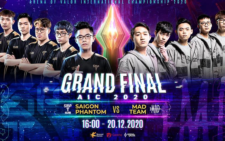 MAD Team sẽ đối đầu Saigon Phantom trong trận chung kết AIC 2020 chiều nay