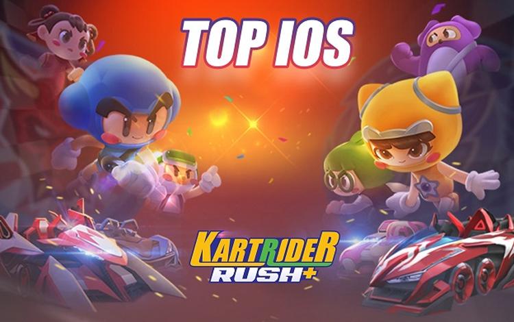 KartRider Rush+ lọt Top game được tải nhiều nhất trên kho ứng dụng iOS