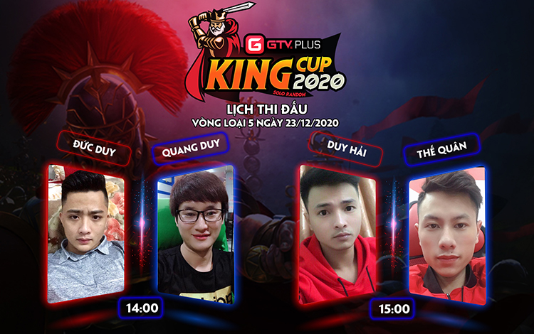 Lịch thi đấu ngày thi đấu ngày 23 tháng 12 Giải đấu GTV Plus King Cup 2020