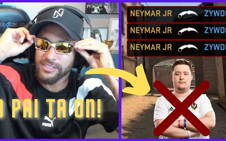 Bắn mồm Zywoo trong trận showmatch CS:GO, Neymar gào thét ăn mừng như thể vô địch cúp C1