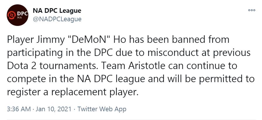 """api cdn.gametv.vn 609e4429fa1c47ed08041862924785f7 - Vừa vượt qua """"vòng gửi xe"""", DeMoN đã ngay lập tức bị cấm khỏi Dota Pro Circuit"""