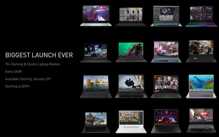 Nvidia GeForce RTX 30 series trình làng dòng GPU laptop mới