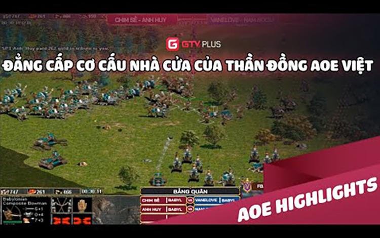 AOE: Đẳng cấp cơ cấu nhà cửa của thần đồng AOE Việt