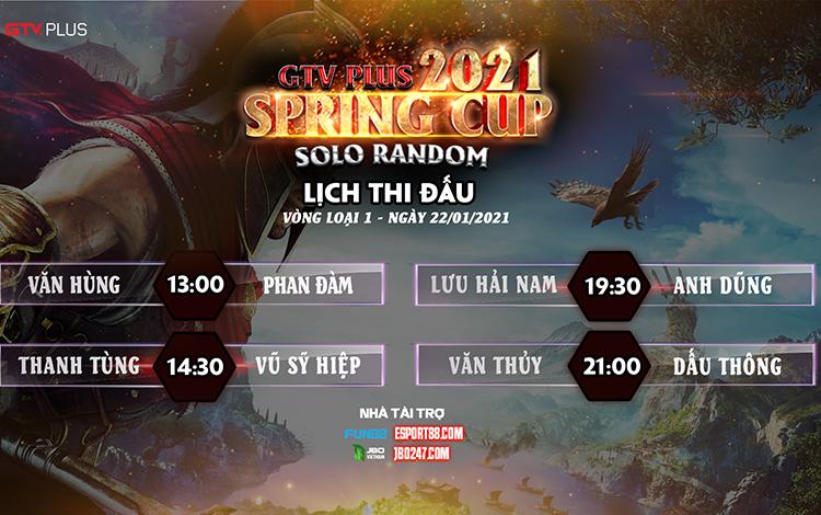 Kết quả bán kết và lịch thi đấu ngày thi đấu 22/1 giải đấu GTV Plus Spring Cup 2021
