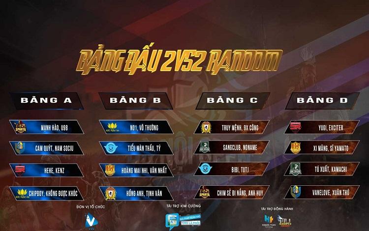 AoE LungCleanser Hà Nội Open 9: Lịch thi đấu vòng bảng nội dung 22 Random ngày thi đấu đầu tiên