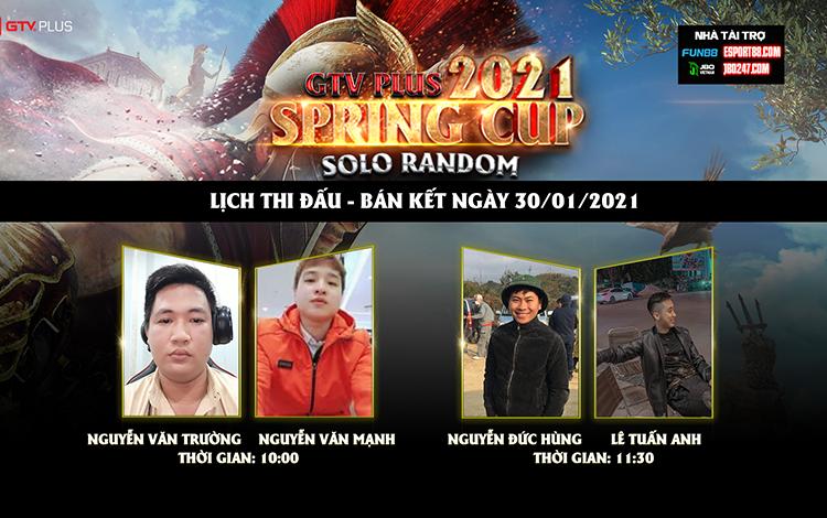 Kết quả và lịch thi đấu ngày thi đấu 30/1 giải đấu GTV Plus Spring Cup 2021