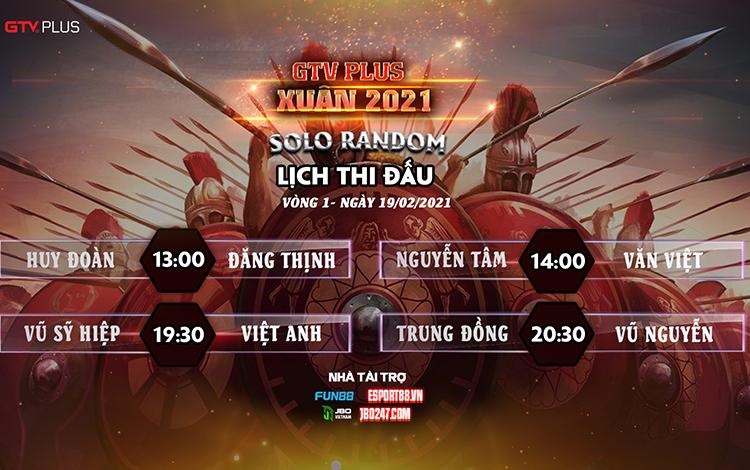 Lịch thi đấu ngày thi đấu ngày 19 tháng 2 Giải đấu GTV Plus Chào Xuân 2021
