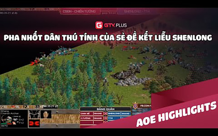 AOE: Pha nhốt dân thú tính của Sẻ để kết liễu Shenlong