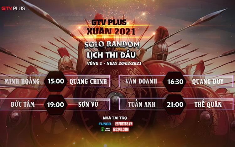 Kết quả và lịch thi đấu ngày thi đấu 20/2 giải đấu GTV Plus Chào Xuân 2021