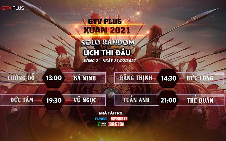 Kết quả và lịch thi đấu ngày thi đấu 21/2 giải đấu GTV Plus Chào Xuân 2021