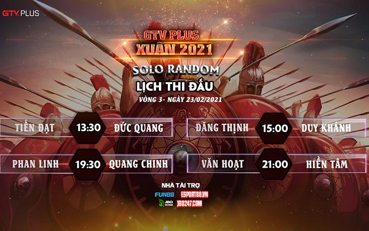 Kết quả và lịch thi đấu ngày thi đấu 23/2 giải đấu GTV Plus Chào Xuân 2021