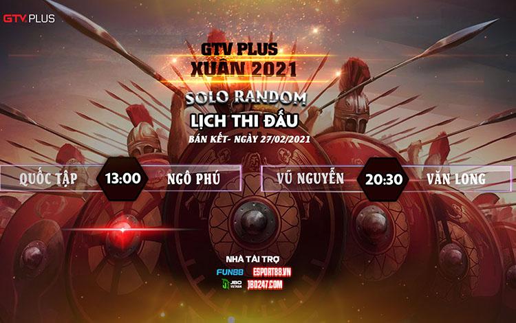 Kết quả và lịch thi đấu ngày thi đấu 27/2 giải đấu GTV Plus Chào Xuân 2021