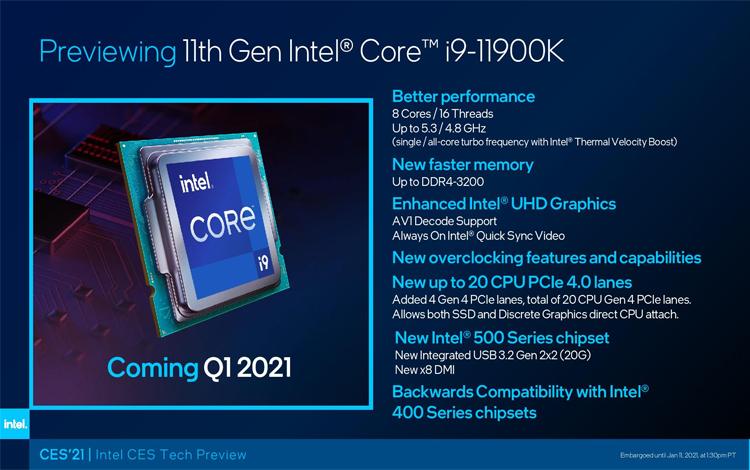 Intel Rocket Lake Thế hệ 11th sẽ được lên sóng vào ngày 30 tháng 3 sắp tới
