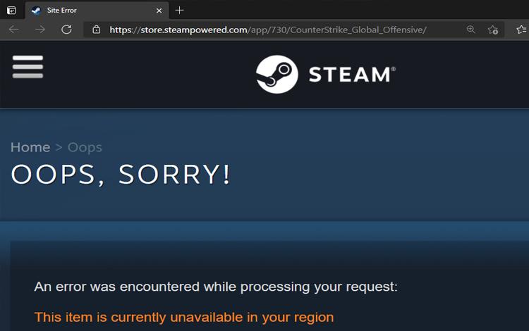 CS:GO bất ngờ biến mất khỏi Steam trong vài tiếng?