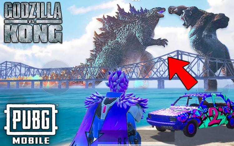 Siêu phẩm film tháng 3 Godzilla vs Kong sẽ hợp tác với tựa game PUBG Mobile?