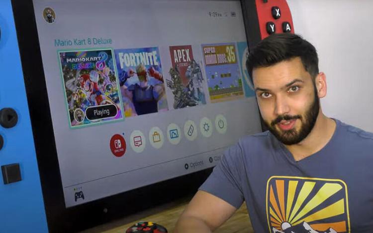 Nintendo Switch bất ngờ được xuất hiên phiên bản siêu to khổng lồ chiều dài gần 2 mét