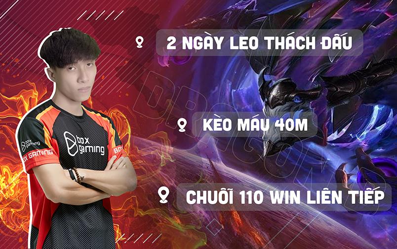 'Thánh thử thách' Dragon B của làng Liên Minh thành lập biệt đội One Champ, mục tiêu phá đảo rank Động LMHT Việt Nam