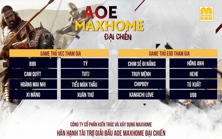 Thông báo chính thức về giải đấu AoE MaxHome Đại Chiến