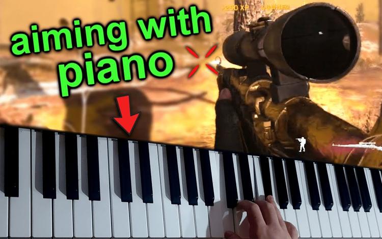 Một game thủ sử dụng... Piano để chơi Call of Duty, và đây là kết quả
