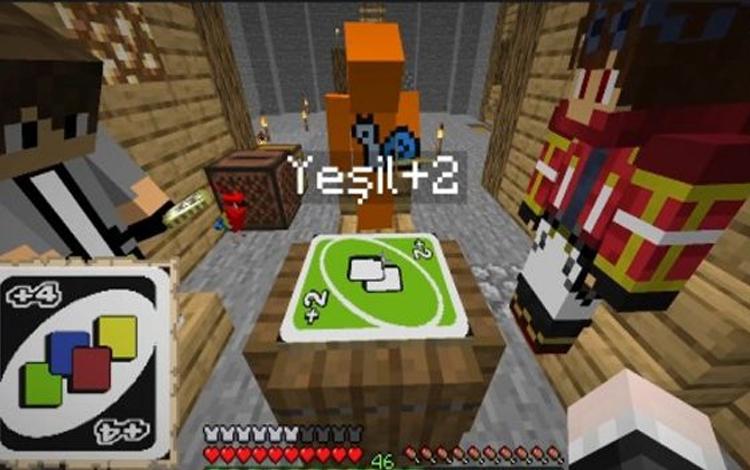 """Một người chơi đã tái hiện tựa game """"đánh rơi tình bạn"""" Uno trên Minecraft!"""