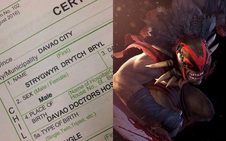 Cuồng Dota nặng, ông bố đặt tên khai sinh con theo tên của Bloodseeker