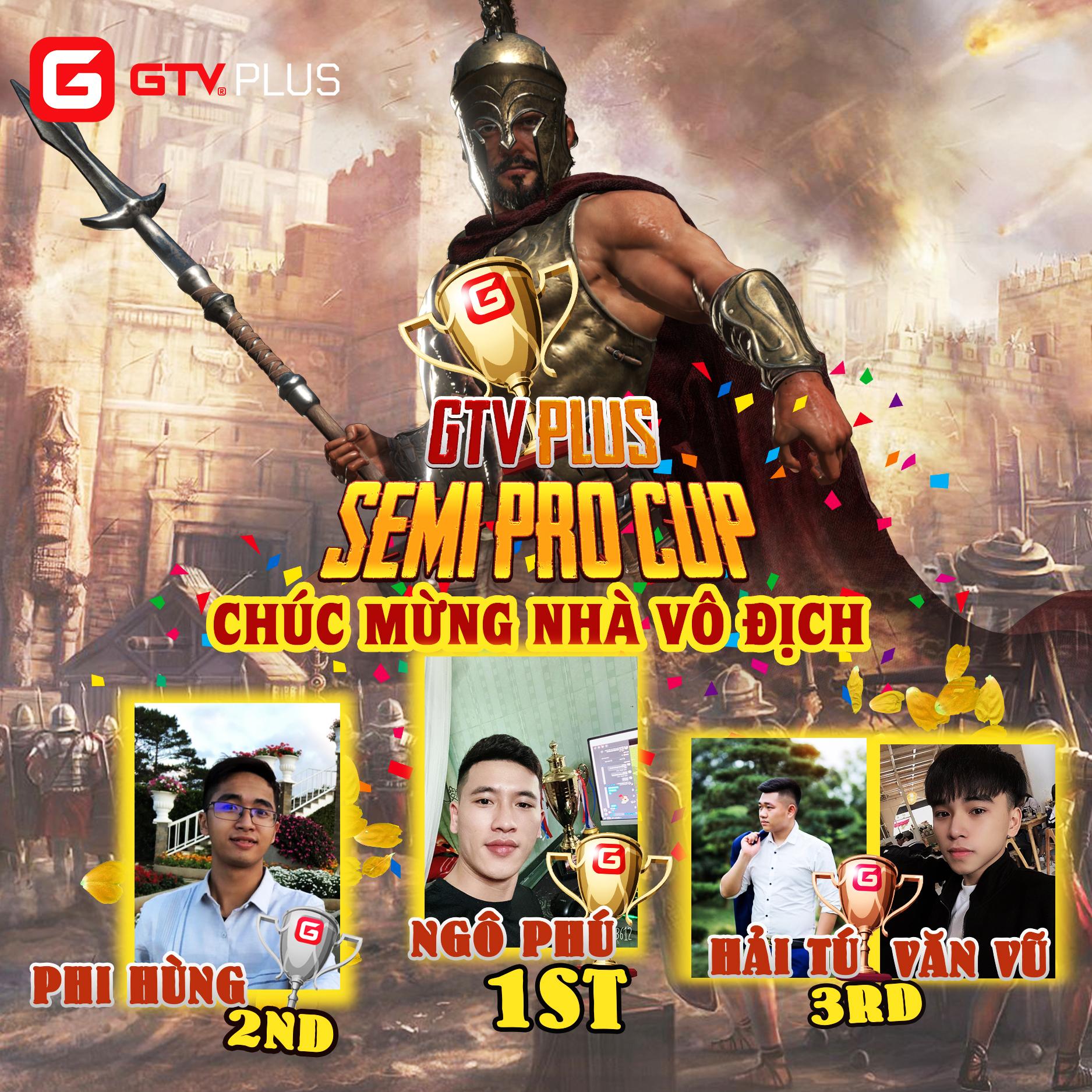 Lộ diện nhà vô địch Giải đấu GTV Semi Pro Cup 2021