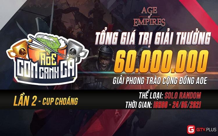 Sau màn ra mắt của GTV Plus 2.0, cộng đồng AoE tiếp tục được hâm nóng khi giải đấu Cơm Canh Cà lần 2 đã ấn định ngày khởi tranh