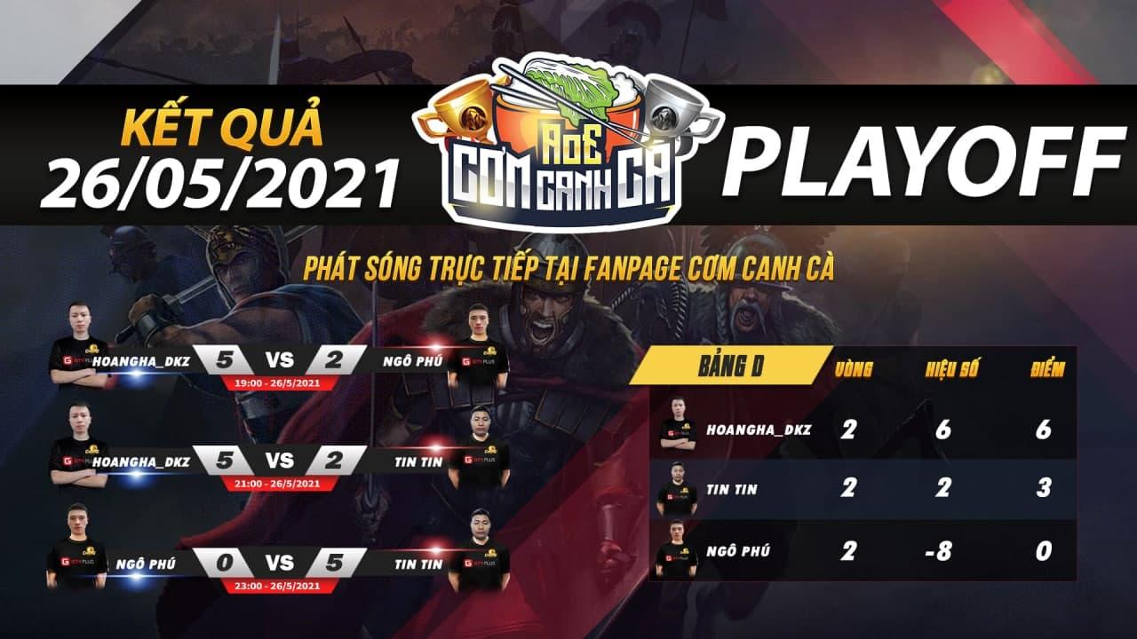 Kết quả và lịch thi đấu ngày 27 tháng 5 của giải đấu AoE Cơm Canh Cà lần thứ 2: HoanghaDKZ thể hiện đẳng cấp ở bảng D