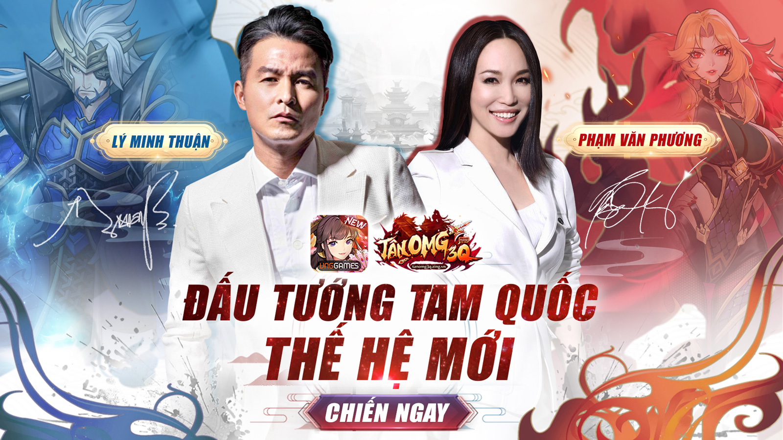 NÓNG: Lý Minh Thuận và Phạm Văn Phương là đại sứ cho Tân OMG3Q VNG
