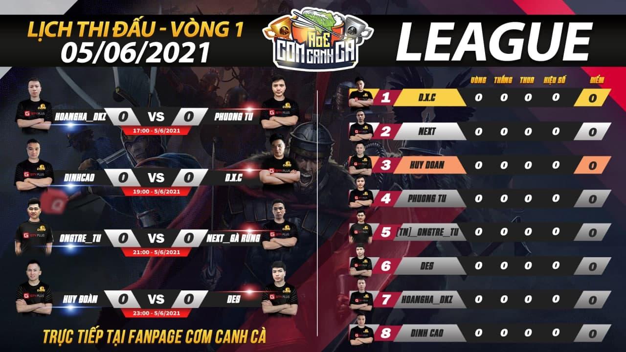 Lịch thi đấu AoE Cơm Canh Cà ngày 5 tháng 6: Những trận đấu sôi nổi vòng League