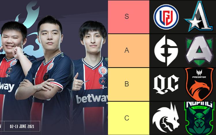Xếp hạng sức mạnh 12 đội tuyển tham dự vòng playoff WePlay! AniMajor