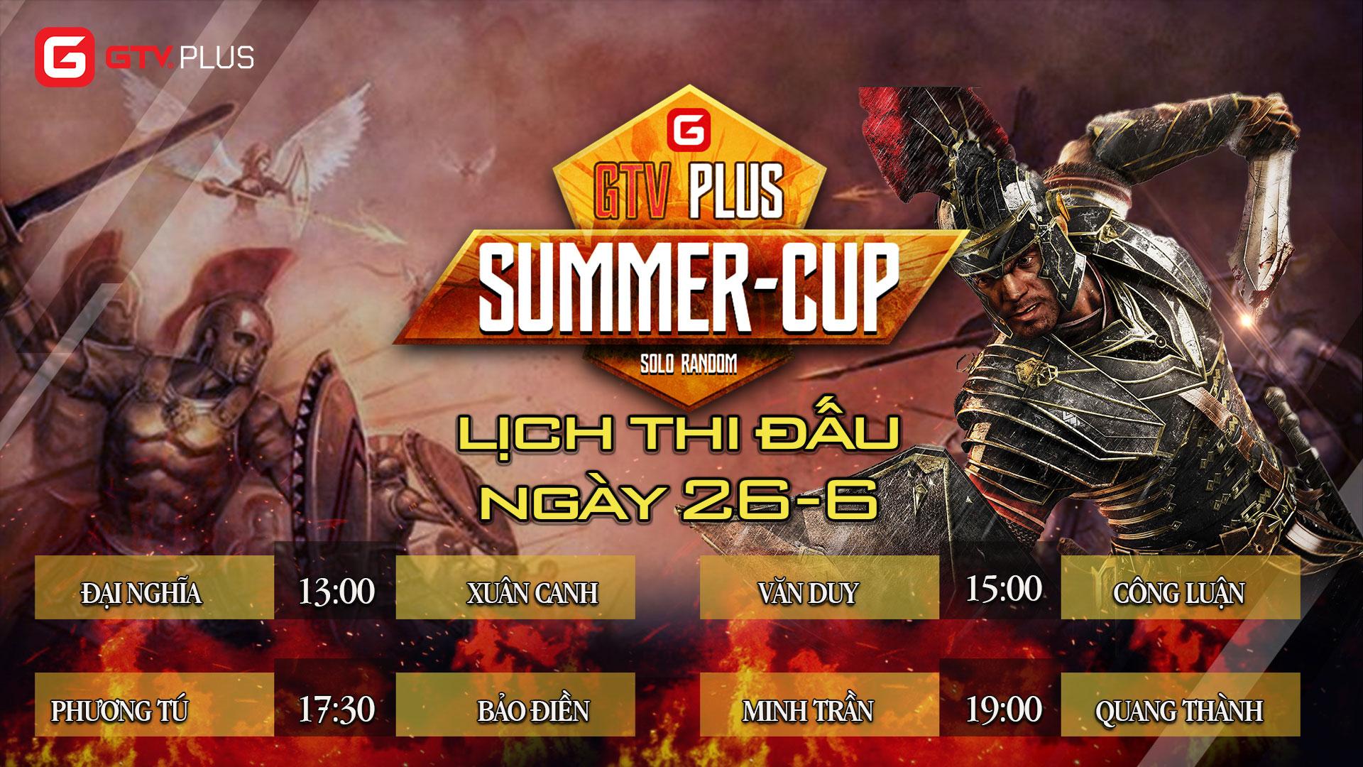 Lịch thi đấu ngày thi đấu ngày 26 tháng 6 Giải đấu AOE SUMMER CUP 2021