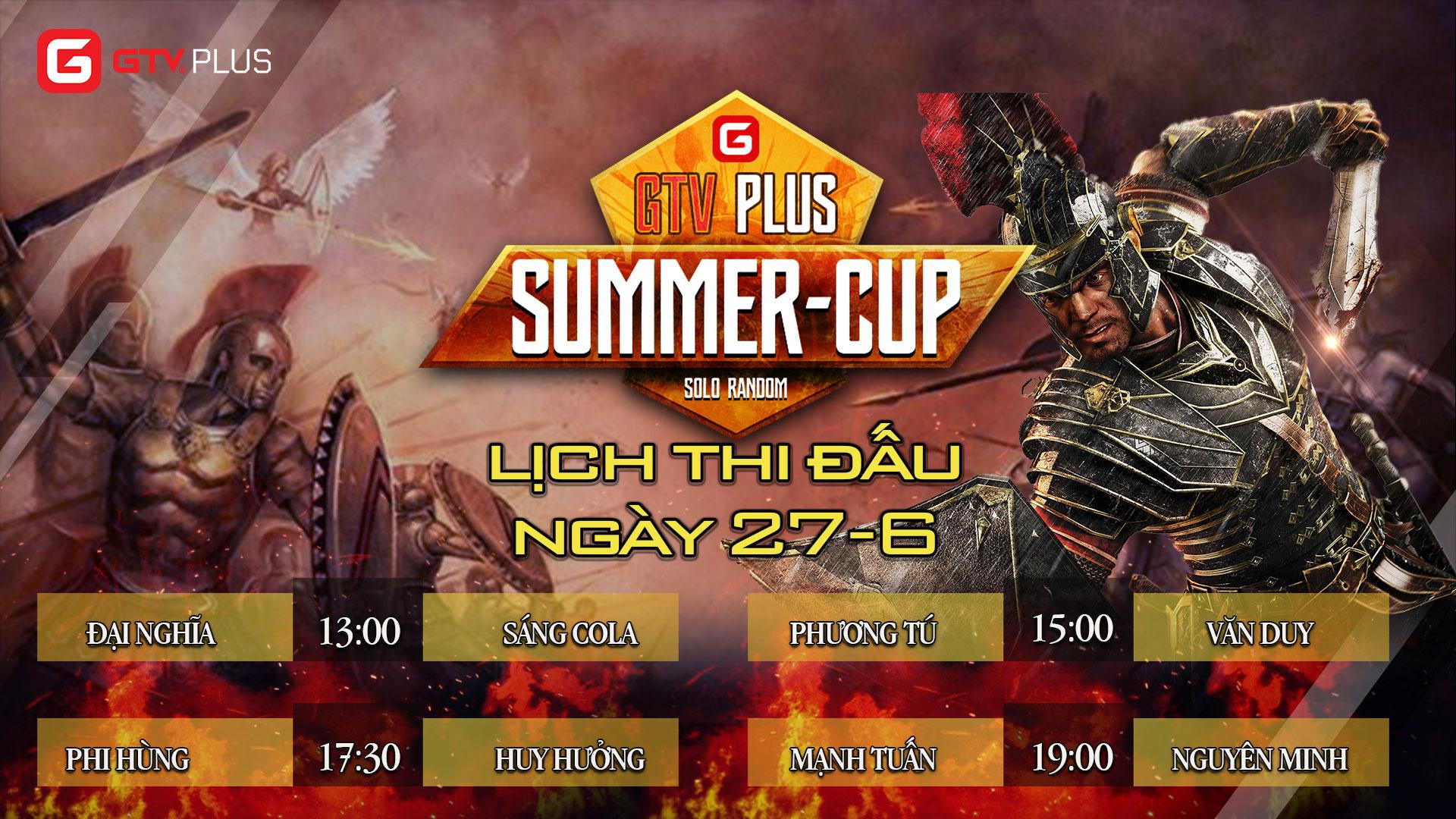 Lịch thi đấu ngày thi đấu ngày 27 tháng 6 Giải đấu AOE SUMMER CUP 2021