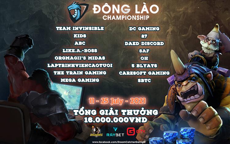Công bố danh sách 16 đội tuyển tham dự giải Dota 2 Đông Lào Championship
